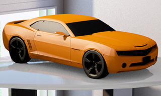 Sports Car 3D Cremation Urn