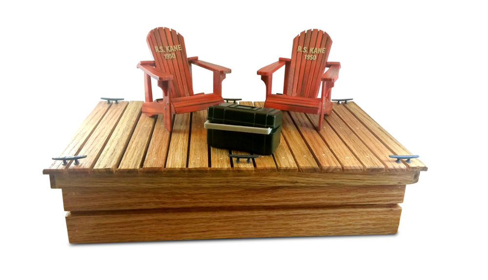 Dock & Chairs 3D Cremation Urn