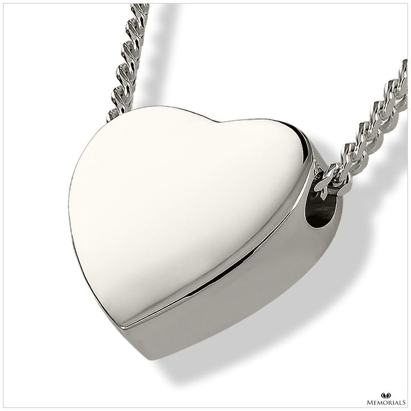 Solid Heart Pendant with Chamber